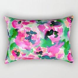 Abstract Flora Green Rectangular Pillow