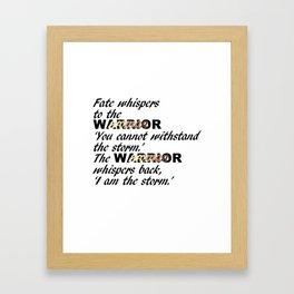 Fate Whispers Black Framed Art Print