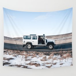 Day out shoting in Iceland Wall Tapestry