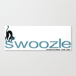 Swoozle Stretching The Cat Canvas Print