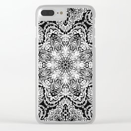 Mehndi Ethnic Style G477 Clear iPhone Case