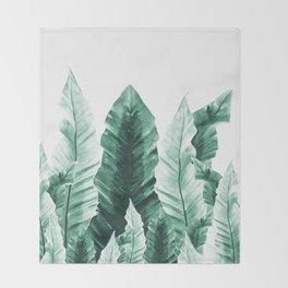 Underwater Leaves Vibes #2 #decor #art #society6 Throw Blanket