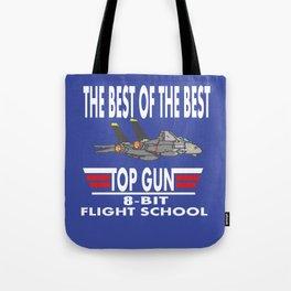 8-Bit Flight School Tote Bag