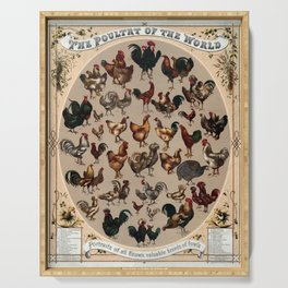 Poultry of the world Affiche Serving Tray