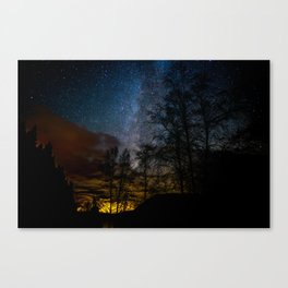 Milky Way Over Lake McDonald, West Glacier Montana Canvas Print