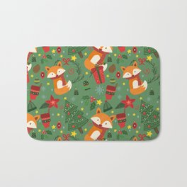 Foxy Christmas! Bath Mat