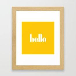Hello (Crocus Yellow) Framed Art Print