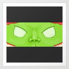 Tiny Monsters : Zombie Art Print