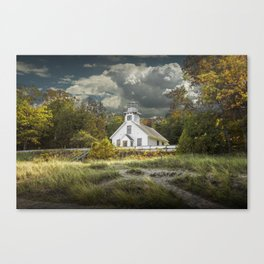 Old Mission Point Lighthouse in Early Autumn Canvas Print