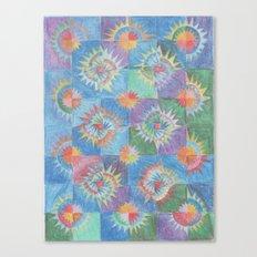 Mosaic Suns Canvas Print