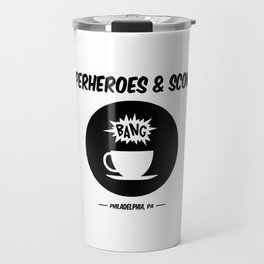 Superheroes and Scones Travel Mug