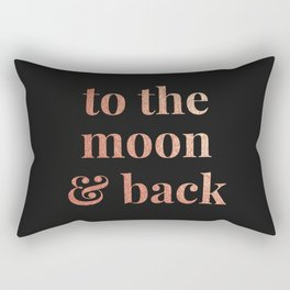 to the moon and back - black Rectangular Pillow