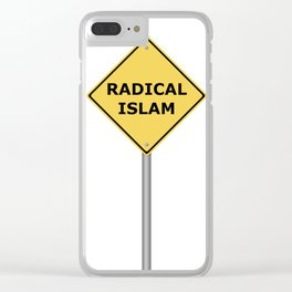 Radical Islam Warning Sign Clear iPhone Case