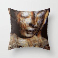 Antique Face Throw Pillow