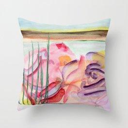 flower graffiti Throw Pillow