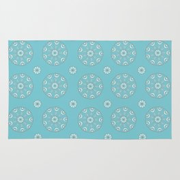 Robin's Egg Blue Sea Urchin - Mini Mandala Design Rug