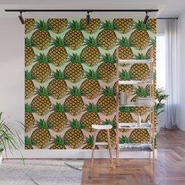 Pineapple living  Wall Mural