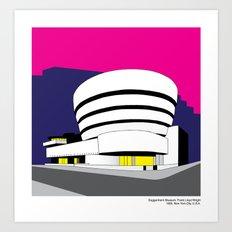 Guggenheim Museum, Frank Lloyd Wright - Modern architecture series Art Print