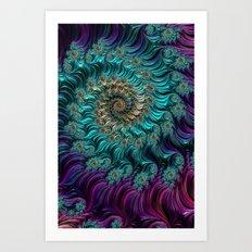 Aqua Swirl Art Print