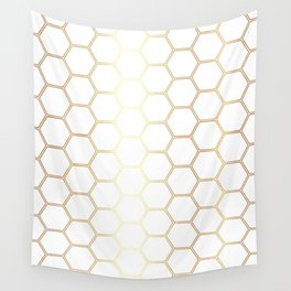 Honeycomb - Gold #170 Wall Tapestry