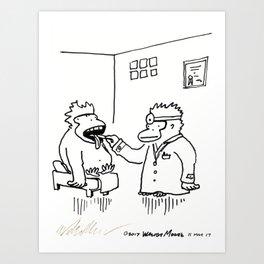 Ailing Ape Visits the Ape Doctor Art Print