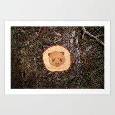 Deforestation Faces - Panda Art Print