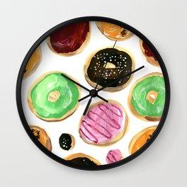 Colorful donuts Wall Clock