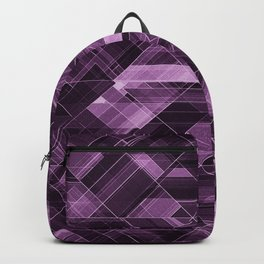 Abstract violet pattern Backpack