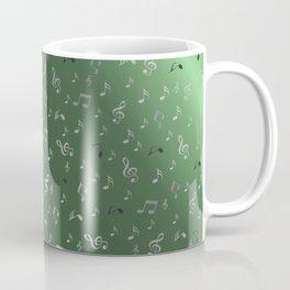 silver music notes metall green Coffee Mug
