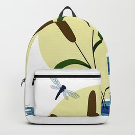 Cattails and Dragonflies Backpack