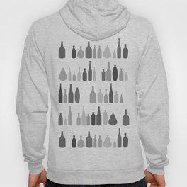 Bottles Black and White on White Hoody