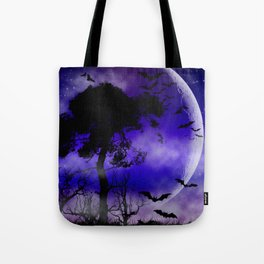 Dark Art Silhoutte - Monster Moon Tote Bag