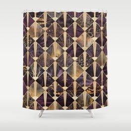 Art Deco Tiles - Plum Shower Curtain