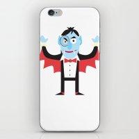 dracula iPhone & iPod Skins featuring Dracula by Joe Pugilist Design