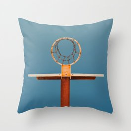 basketball hoop 5 Throw Pillow