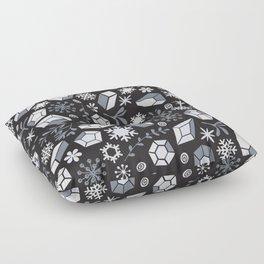 Winter diamonds Floor Pillow
