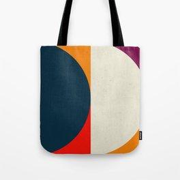 Geometric abstract / half circles Tote Bag