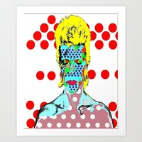 david bowie Art Prints featuring Bowie by Ricky Sencion