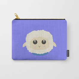Cute little sheep with blue collar Carry-All Pouch