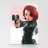 black widow Stationery Cards featuring Black Widow by nachodraws