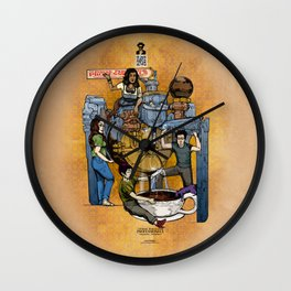 The Fantastic Craft Coffee Contraption Suite - The Power Percolator Professionals Wall Clock