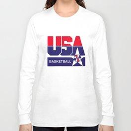 Usa Basketball Olympic Team Summer Basketball T-Shirts Long Sleeve T-shirt