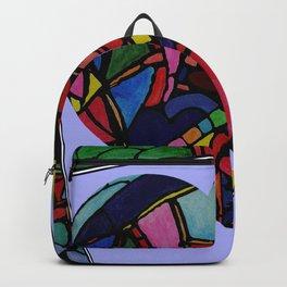 Stain Glass Design - Heart Backpack