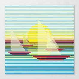 Sailing at sunrise Canvas Print