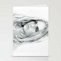 cara delevingne Stationery Cards featuring Cara Delevingne by sesven