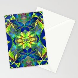 Floral Fractal Art G373 Stationery Cards