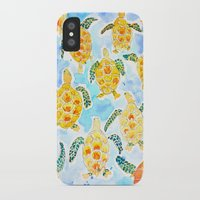 turtles iPhone & iPod Cases featuring Turtles by Julie Lehite