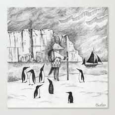 Antarctic explorer Canvas Print