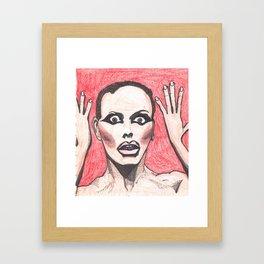 "Alyssa Edwards; ""She was the one backstabbing me behind my back!"" Framed Art Print"