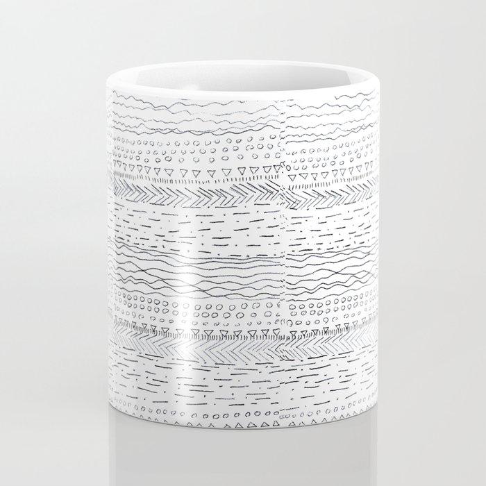 lines and dots pattern Coffee Mug